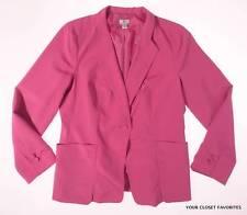 Worthington Blazer Womens XL Fuchsia Single Button Wear To Work Career Jacket