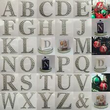 1 x 55mm Large Rhinestone Diamante Stick On Self Adhesive Letters for Favour Box