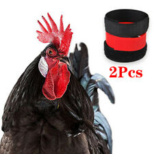 2Pcs Chicken Collars No-Crow Rooster Noise Free Neck Belt Farm Poultry Supplies