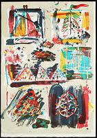 """""""Alaska-Sonnensegel II"""". Grosse Lithographie Jens JENSEN (*1940 D), handsigniert"""