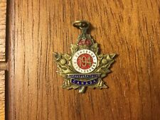 Rare Wwi 194th Edmonton Highlanders Overseas Battalion Sweetheart Badge Canada