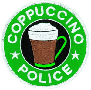 """Coppuccino Police Patch 4"""" Round"""