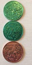 Vintage 1986 Mardi Gras MKS Shangri-La 3 Aluminum Doubloon Coins 3