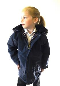Wax Jacket New Kids Made in England Padded  Navy Olive Green 24 26 28 30 32 34
