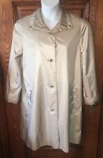 New RAINSHEDDER Champagne Gold Ladies Removable Lining RAIN COAT Size 10, NWOT
