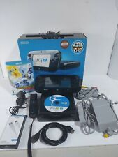 Nintendo Wii U 32GB Black Console Deluxe Set with Nintendo Land - TESTED WORKS