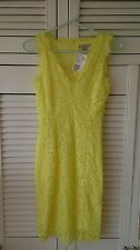 BNWT H&M Mimosa Yellow Lace Summer Dress Blogger Chic Coachella Size XS