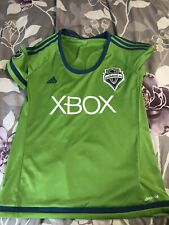 adidas Seattle Sounders FC Rave Green Replica Jersey Women's Size Large