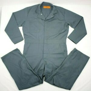 NOS Red Kap Men's Workwear Coveralls Action Back CT10SG5 Green 44 Reg