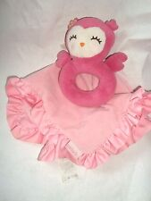 Carters Security Blanket Owl Discontinued by Manufacturer PINK Rattle SUPER CUTE