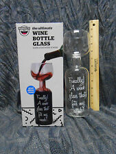 Ultimate Wine Bottle Glass Holds a Whole Bottle Drink 750ml  Big Mouth Toys NIB