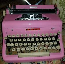 1956 ROYAL QUIET DELUXE PORTABLE Typewriter, Bubble Gum PINK VINTAGE REDUCED