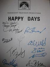 Happy Days Lemon signed TV Script Ron Howard Henry Winkler Marion Ross Most RPNT