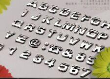 LETTRE 3D autocollant sticker adhésif  auto Chrome voiture ahésive tuning argent