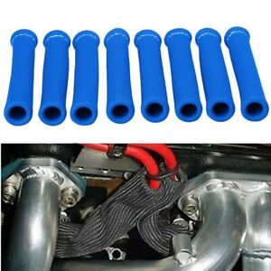 8PCS Spark Plug Wire Boots Heat Shield Protector Sleeve for Ford Chevy Dodge GMC