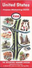 1965 ESSO HUMBLE Road Map UNITED STATES Route 66 Interstate Highways Code W365