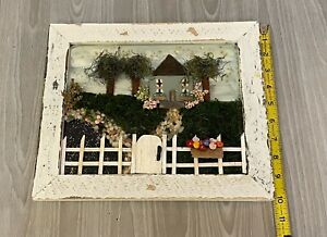 Unique Wall Decor Original Mixed Media of 3D Country Home Drew Marie