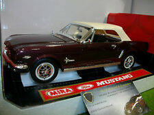 FORD MUSTANG 1964 1/2 prune/blanc 1/18 MIRA 6294 voiture miniature d collection
