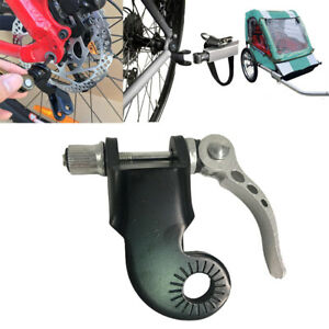Bicycle Trailer Coupler Angled Elbow with Quick Release Lock Bike Trailer Mount