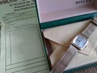 Mens Rolex Prince Watch Art Deco Mint Solid Gold Just serviced beautiful