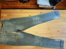 DKNY BLACK GRAY WASHED AND FADED SKINNY JEANS Size 28
