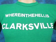 vintage 80s WHERE IN THE HELL IS CLARKSVILLE TENNESSEE T-Shirt XXS tourist thin