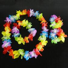 4x Hawaiian Tropical Hula Luau Herbe Danse Tête Poignet Poignet Guirlande 9H