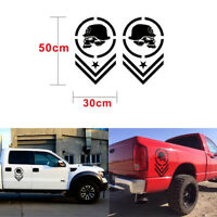 Human skeleton Soldier Sticker Self Adhesive Vinyl decal for ford dodge Truck