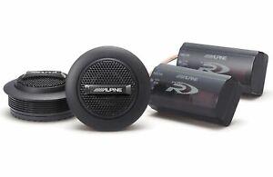 "Alpine SPR-10TW Car Audio Type R Series 1"" Silk Dome Tweeter Speakers Pair New"