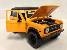 41973 FORD BRONCO HARD TOP COLLECTIBLE, 1:24 SCALE DIECAST, JADA TOY, ORANGE