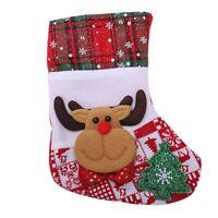 1X(Weihnachtsmann Schneemann Anhanger Weihnachten Verzierung Neujahr Socken W z3