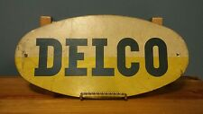 Vintage Original Delco Batteries Sign from Battery Rack Gas & Oil Advertising