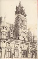 France, Compiègne, Hôtel de ville  Vintage albumen print.  Tirage albuminé