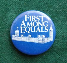 First Among Equals Pin Badge - Retro TV Advertising - ITV Granada Television
