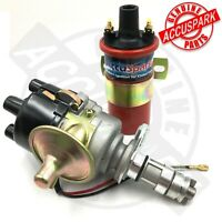 AccuSpark Electronic 45D Mini electronic distributor, RED Sport coil -red rotor