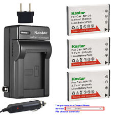 Kastar Battery AC Charger for Casio NP-20 Battery Casio BC-11L BC-31L Charger
