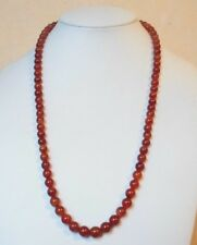 """Edelsteinkette Rot Achat Collier 55 cm Halskette7 - 9 mm Perlen  """"True Gems"""""""