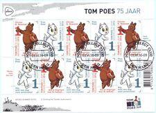 Nederland 2016  Tom Poes Olie B Bommel    velletje   gestempeld