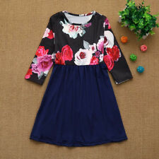 Mother Daughter Matching Clothes Floral Mom Kids Parent Maxi Long Dress Outfits