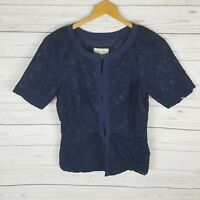 Veronika Maine Top Size 8 Blue Lace