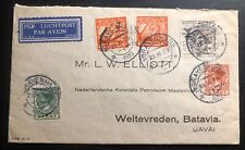 1930 The Hague Netherland Commercial Airmail Cover to Weltevreden Dutch Indies