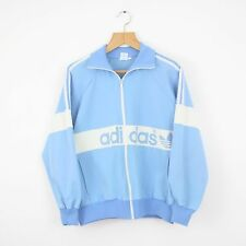 Vintage 80s ADIDAS Blue Tracksuit Top Jacket | Retro Trefoil Original | Small S