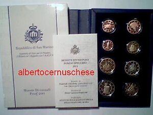 2011 8 monete 3,88 EURO PROOF Fs San Marino BE PP Saint Marin Сан - Марино