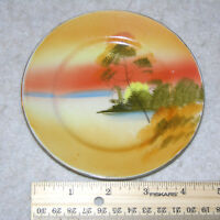 "Estate Find of a Vintage 5"" China Plate with Japanese Scene & Gold Rim"