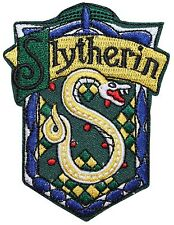 Slytherin Hogwarts' House Crest Harry Potter Embroidered Iron On Applique Patch