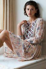 Velvet By Graham & Spencer Anthropologie Tawni CLEO PRINT BEADED DRESS S New