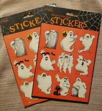 Gibson Stickers Halloween Scary Funny Ghosts with Tombstones Black Cat 4 Sheets!