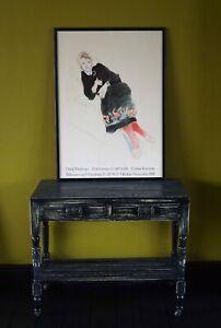 David Hockney Poster Galeria Kammer 1981 Celia In Black Dress & Red Stockings