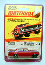 Matchbox Superfast Nr. 24A Rolls Royce rotmetallic graue Bpl. rarer Blister