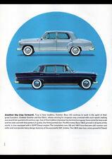 """1961 MERCEDES BENZ 180D 120 PONTON AD A4 CANVAS PRINT POSTER 11.7""""x8.3"""""""